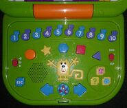 Wubbzy's Bilingual Treehouse Laptop - Inside, Buttons