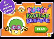 Kooky Kostume Kreator Title Screen (iPad)