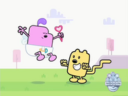 Cupid talking to Wubbzy