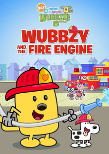 Wow! Wow! Wubbzy! Wubbzy and the Fire Engine DVD cover