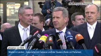 Freispruch für Wulff - Statements nach Urteilsverkündung am 27.02.2014