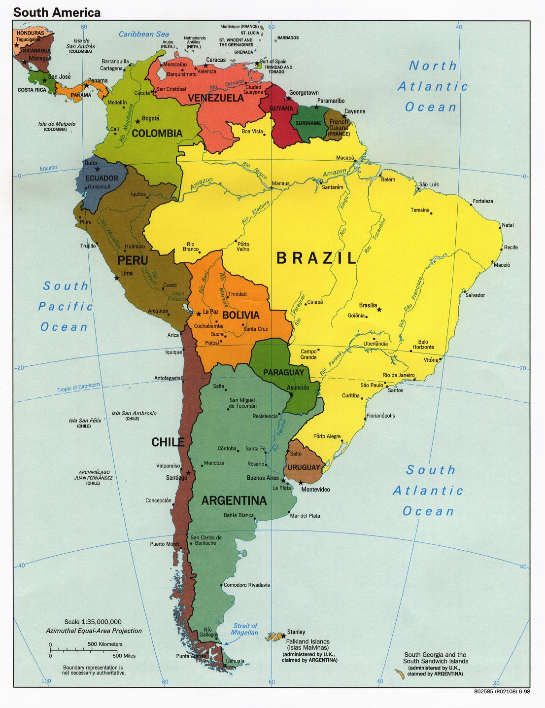 south american continent