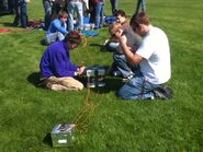 Boys prepping the electronics pod