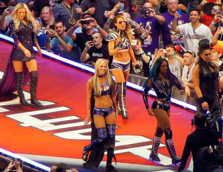 Team B.A.D. Blonde WrestleMania 32