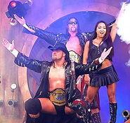 Chris Harris, James Storm, and Gail Kim aka Americas Most Wanted at TNA Impact taping in Orlando Florida
