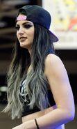 Paige (wrestler) at WrestleMania 32 Axxess