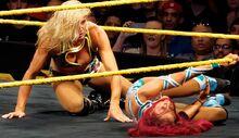 Sasha vs. Charlotte NXT Live event