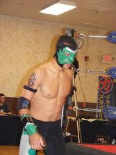 Pro wrestler Helios in Chikara