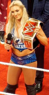 Charlotte as the WWE Women's Champion Raw April 2016