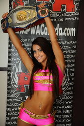 Jasmin Areebi with PWA belt