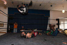 Mr 450 somersault at LuchaTO