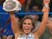 Mickie James as knockouts champion