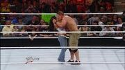 Aj lee kissing John cena