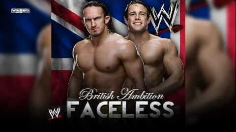 "British Ambition 2nd WWE Theme - ""Faceless (WWE Edit)"" Custom Cover"