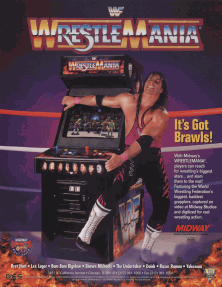 WWF Wrestlemania arcade flyer
