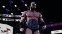 Neville with Cruiserweight Champion WWE2K18