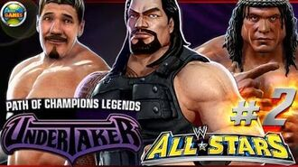"""WWE All Stars Part 2"""" Path of Champions"""" The Undertaker PSP PPSSPP - Roman Reigns"""