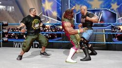 John Cena and Steve Austin against Macho Man