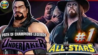 """WWE All Stars Part 1"""" Path of Champions"""" The Undertaker PSP PPSSPP - Roman Reigns"""