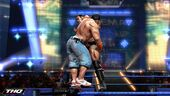 The Rock ready to superplex John Cena at WrestleMania 23