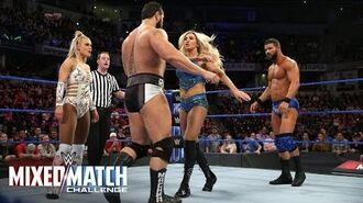 """""""The Robe Warriors"""" engage in a pre-match altercation with Rusev & Lana on WWE MMC"""