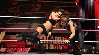 The Bella Twins vs. AJ Lee & Tamina- Raw, Oct. 21, 2013
