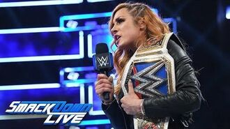 Becky Lynch has a warning for Ronda Rousey- SmackDown LIVE, Oct. 30, 2018
