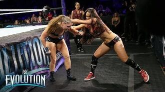 Brie Bella hits Ronda Rousey with a cheap shot- WWE Evolution 2018 (WWE Network Exclusive)