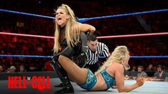 Charlotte Flair fights through the pain of an injured leg against Natalya- WWE Hell in a Cell 2017