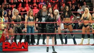 Stephanie McMahon announces the first-ever Women's Royal Rumble Match- Raw, Dec. 18, 2017