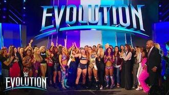 The Women's Division celebrates historic night with Ronda Rousey- WWE Evolution 2018 (WWE Network)