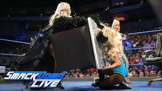 Charlotte Flair & Carmella sign contract for their match at Backlash- SmackDown LIVE, April 24, 2018