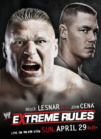 Extreme Rules 2012 poster