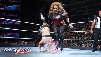 Nia Jax levels Alexa Bliss with a crushing clothesline- WWE Backlash 2018 (WWE Network Exclusive)