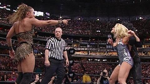Resultado de imagem para Trish Stratus vs. Victoria vs. Jazz - WrestleMania XIX