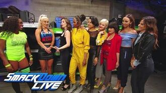 "Alison Brie and the cast of ""GLOW"" meet Naomi and Lana- SmackDown LIVE, June 26, 2018"