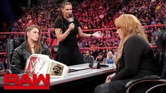 Ronda Rousey vows to take Nia Jax's arm and her title- Raw, May 21, 2018