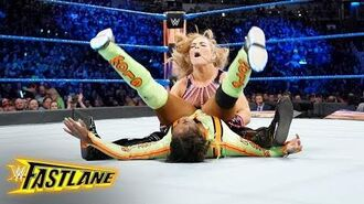 Natalya drops Naomi with a stinging powerbomb- WWE Fastlane 2018 (WWE Network Exclusive)