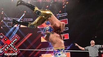 "Sin Cara sends Andrade ""Cien"" Almas flying from the top rope- WWE Extreme Rules 2018 Kickoff Match"