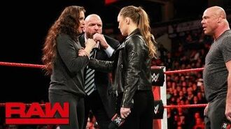Ronda Rousey gets her WrestleMania match- Raw, March 5, 2018