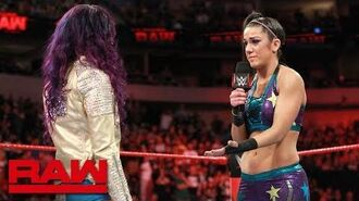 Bayley is still angry at Sasha Banks- Raw, March 19, 2018