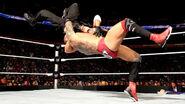 Batista lifted Seth Rollins