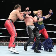 Breeze and Fandango double clothesline Konnor