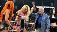 Charlotte winning the Divas Champion