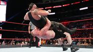 Braun-Strowman hit another suplex by Lesnar