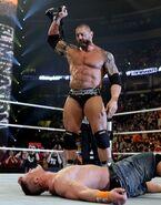 Batista wins the WWE Champion