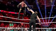 Undertaker walk on the ropes against Dean Ambrose