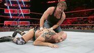 Ambrose putting Cesaro down