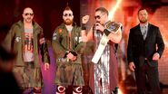 The Miz Sheamus Cesaro and Curtis Axel interrupt
