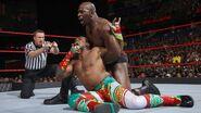 Titus grappling Xavier Woods